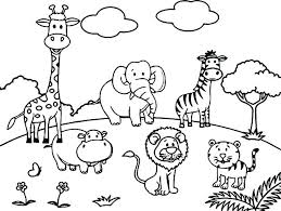 Coloring Pages Zoo Coloring Pages Of Zoo Animals For Preschool Zoo