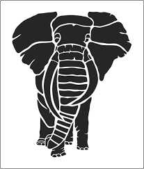 Elephant Pumpkin Carving Pattern Fascinating Large Elephant Stencil To Buy From The Stencil Warehouse