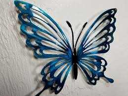 Liffy metal butterfly wall decor outdoor indoor metal wall art butterfly hanging decorations metal and glass garden theme home decorations for garden living room bedroom (black) 4.8 out of 5 stars 112. Metal Butterfly Wall Art Butterfly Decor Butterfly Garden Butterfly Decor Aluminum Butterfly Outdoor Decor Butterflies For Girls Room