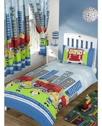 nee naa fire engine junior duvet cover and pillowcase set