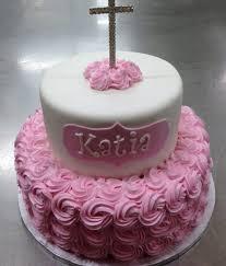 Baptism Cake Girl Flowers 395 Select Bakery