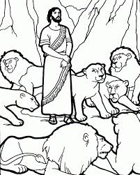 Small Picture Daniel in the lions den coloring page Pinteres