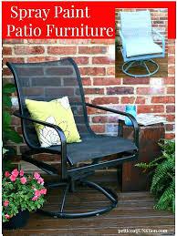 painting iron patio furniture metal garden