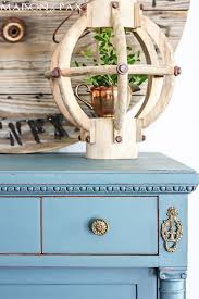 distressed blue furniture. Gorgeous Antique Dresser Painted Blue And Lightly Distressed: Best Way To Paint Furniture - No Distressed