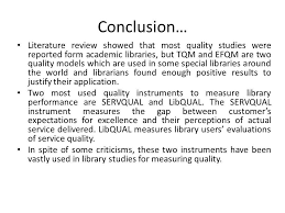 quality management in special libraries golnessa galyani 20 conclusion