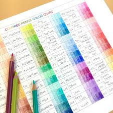 Prismacolor Pencil Blank Color Chart Colored Pencil Video Tutorial