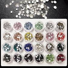 Mix Sizes 100-<b>120pcs pack</b> Nail Art Rhinestone Decoration Crystal ...
