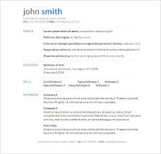 Standard Resume Template Word Sample Resume Template Word Modern Free Templates And Format File 25