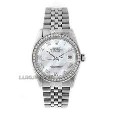 rolex mens watch ss datejust 16014 mop r dial amp 1ct image is loading rolex mens watch ss datejust 16014 mop r