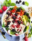 blackberry avocado salad with balsamic vinaigrette