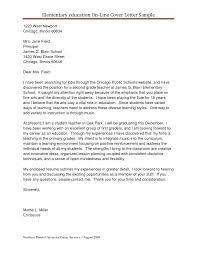 Sample Cover Letter For Elementary Teacher Tomyumtumweb Com