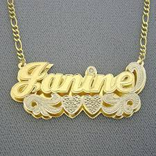 solid 10k gold large 2 inches name