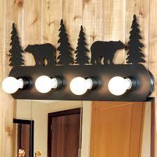 rustic bathroom lighting. Rustic Bear Vanity Light Fixture - 4 Bathroom Lighting A