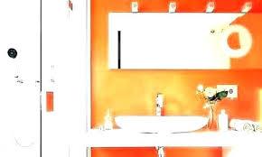 burnt orange bathroom rug set grey and brown accessories an
