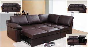 Models Brown Leather Sofa Bed Style M In Simple Design