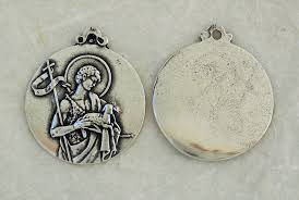 1349 medal st john the baptist lamb cross banner graceful