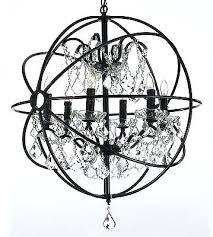 wrought iron crystal chandelier orb wrought iron crystal chandelier 6 lights lighting country french swarovski crystal
