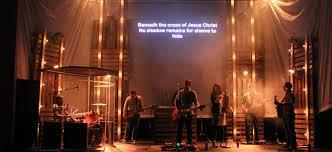 Church Stage Design Ideas scrim tower lights