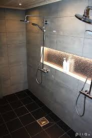 In shower lighting Fibre Optic Like The Light Idea Above The Recessed Area Could Put Some Colorful Tile Behind It Sisustus Kylpyhuone Moderni 5371dff9498e29c7fed87913 Pinterest Like The Light Idea Above The Recessed Area Could Put Some
