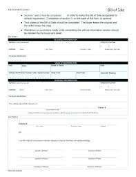 Florida Auto Bill Of Sale Form Free Bill Sale Templates For Car Sample Form Template Vehicle