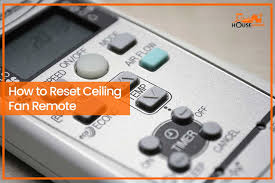 how to reset ceiling fan remote a