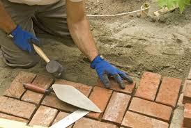 installing brick paving landscaping