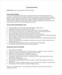 Real Estate Sales Job Description Retail Associate Job Description