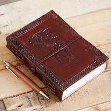 celtic dragon leather journal