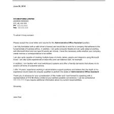 Cover Letter Administrative Assistant Experience Resumes