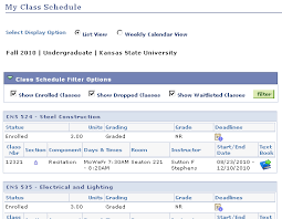 Viewing Printing Your Class Schedule