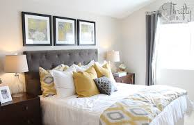 yellow and grey themed bedroom page 1