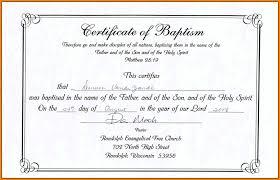 Baptism Certificate 10 Baptismal Certificate Template World Wide Herald