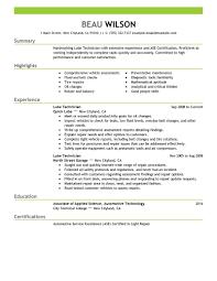 Automotive Technician Resume Automotive Technician Resume Examples] 100 Images Automotive 47