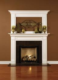 leesburg wood fireplace mantel classic looks optional overmantel