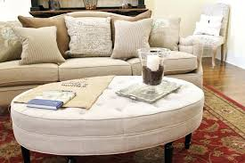 leather oval ottoman coffee table see here tables ideas piece 5