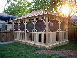 screened gazebo by flamborough patio furniture gardening with patio screened gazebo