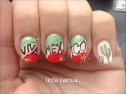 Mexico inspired nail design :) - YouTube