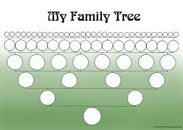 A Printable Blank Family Tree To Make Your Kids Genealogy Chart