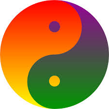 orange clipart png. clipart rainbow blend yin yang orange png