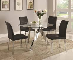 large size of round glass dining table set vecelo dining table with 4 chairs black glass