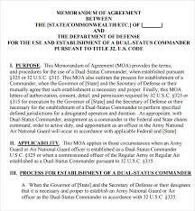 National Guard Powerpoint Templates Memorandum Of Agreement 12 Free Pdf Doc Download