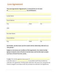 Free Loan Agreement Free Loan Agreement Template shatterlion 40