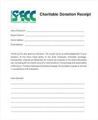 charitable contribution receipt letter charitable donation receipt sample acknowledgement template excel