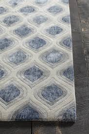 clara collection handtufted area rug in blue grey u0026 white design by grey white rug e8
