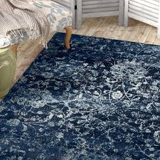 picturesque blue area rug at lark manor devay fl steel reviews wayfair