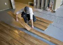 engineered hardwood floor installation on concrete slab