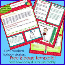 free holiday newsletter template modern holiday newsletter template