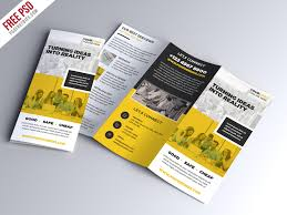 tri fold brochures multipurpose tri fold brochure psd template psdfreebies com