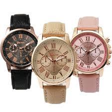 <b>3PCS</b> Geneva BLK-1 <b>Women's</b> Leather <b>Watch</b> bestprice COD great ...