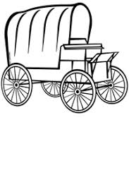 black and white covered wagon. covered wagon cliparts #2419377 black and white n
